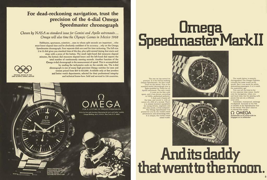 5423824e7bc Speedmaster publicidade. Primeiro Omega Speedmaster